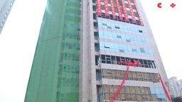 Снос 118-метровой башни смотреть видео - 2:07