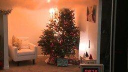 Смотреть Как горит новогодняя ёлка