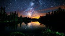 Смотреть Вечерняя и ночная красота природы