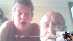 Смотреть Показал родителям прыжок с парашютом