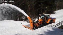 Смотреть Работа снегоочистительной техники