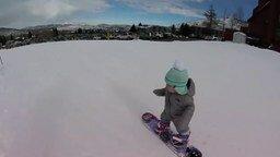 В год встаём на сноуборд! смотреть видео прикол - 0:22