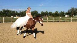 Смотреть Танец жениха и невесты на лошади