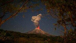 Смотреть Наглядное извержение вулкана