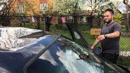 Смотреть Махом выправил крышу авто