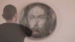Смотреть Портрет из нитки