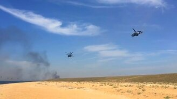 Смотреть Наши учения на вертолётах