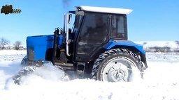 По бездорожью на тракторах смотреть видео прикол - 10:10