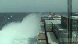 Смотреть Деформация судна в шторм