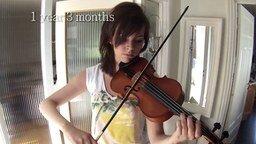 Смотреть Как я училась игре на скрипке