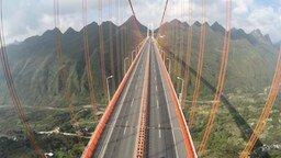 Смотреть Экстрим на подвесном мосту