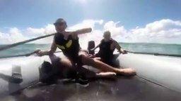 Акула против моторной лодки смотреть видео прикол - 0:43