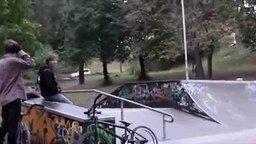 Трюк на BMX не удался