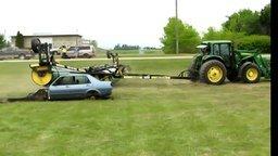 Разрушительный трактор смотреть видео прикол - 3:36