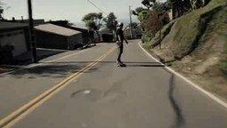 Экстрим на скейте с горы смотреть видео прикол - 1:38