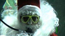 Смотреть Санта Клаус в аквариуме
