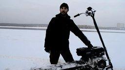 """Самодельный снегоход """"Васюган"""" смотреть видео прикол - 4:06"""