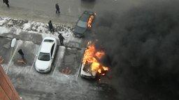 Смотреть Взрыв машины и бесстрашные мужики