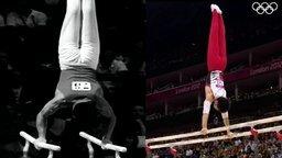 Гимнасты из 1960 и 2012 годов смотреть видео - 0:39