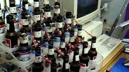 Смотреть Орган из стеклянных бутылок