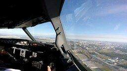 Смотреть Посадка самолёта глазами пилота