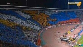 Смотреть Акция сербских болельщиков  со нашим флагом