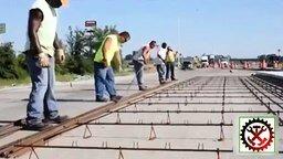 Как строят железобетонные дороги.