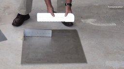 Смотреть Интересный способ укладки плитки
