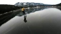 Смотреть Хоккей на замёрзшем озере