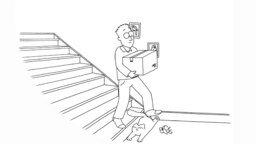 Кот и Саймон на лестнице смотреть видео прикол - 4:26