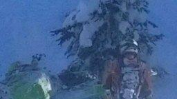 Прыжок с горы на снегоходе смотреть видео прикол - 0:26