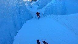 На горных лыжах по каньону