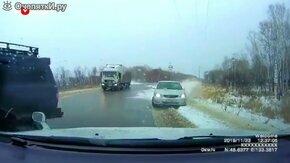 ДТП на обледенелой дороге