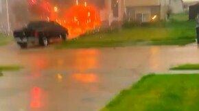 Пожар в доме из-за фейерверков