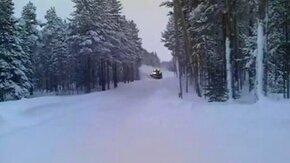 Чистка снега по-фински смотреть видео прикол - 0:40