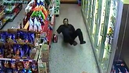 Пьяный на шоппинге