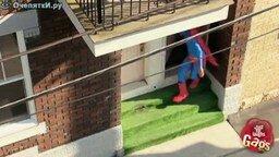 Реальный супермен! смотреть видео прикол - 1:19