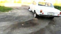 Мощная 24 Волга смотреть видео прикол - 0:48
