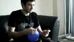 Взрыв воздушного шара смотреть видео прикол - 0:22