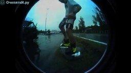Вейкбординг по дороге смотреть видео прикол - 4:01