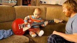 8-ми месячный гитарист смотреть видео - 0:57